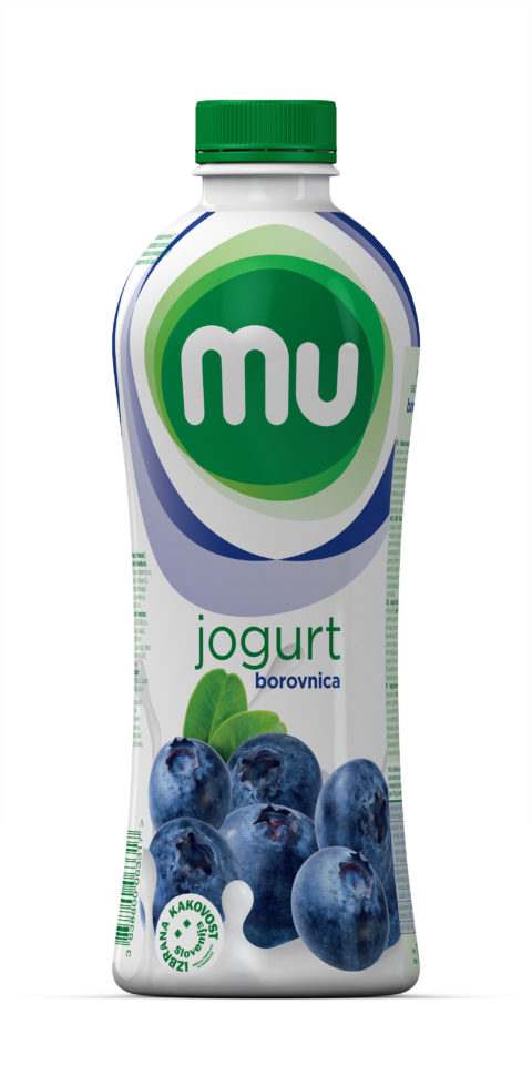 Mu fruit yoghurt blueberry; plastic bottle