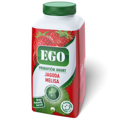 Ego probiotic; strawberry, lemon balm