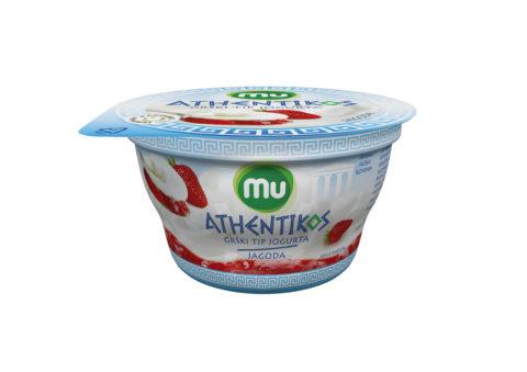 Mu Athentikos jogurt; jagoda