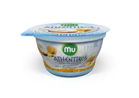 Mu Athentikos yoghurt; honey, vanilla