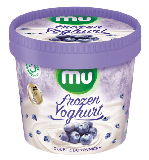 Mu Frozen Yoghurt with blueberries