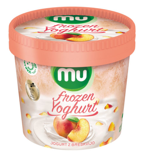 Mu Frozen Yoghurt with peach
