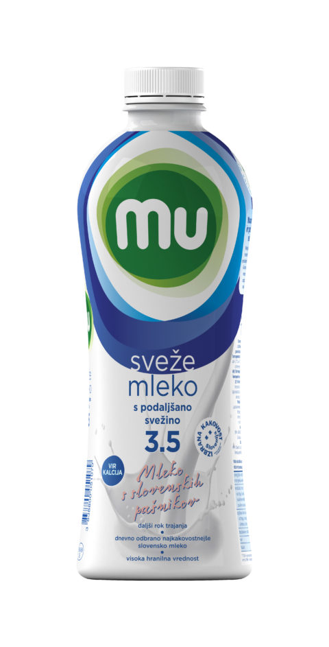 Mu fresh milk with 3,5 % milk fat extended shelf life