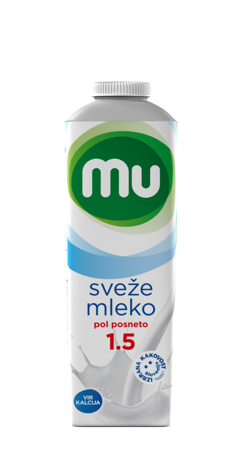 Mu fresh milk with 1,5% milk fat