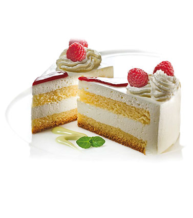 Smetanova torta z metino omako
