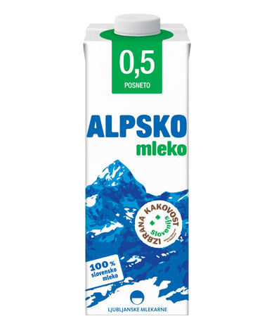 Alpsko mleko with 0,5 % milk fat