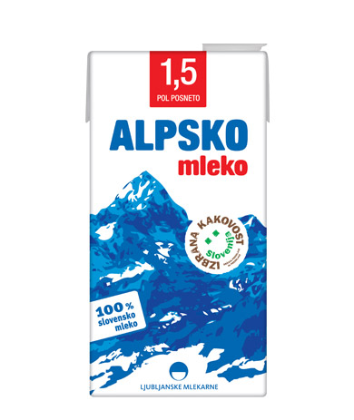 Alpsko mleko with 1,5 % milk fat