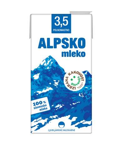 Alpsko mleko with 3,5 % milk fat