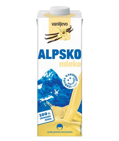 Alpsko mleko with vanilla