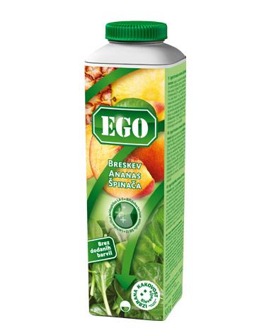 Ego probiotik; breskev, ananas, špinača