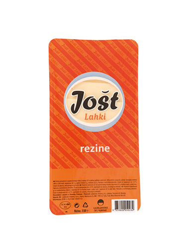 Jošt light; semi hard medium fat cheese in slices