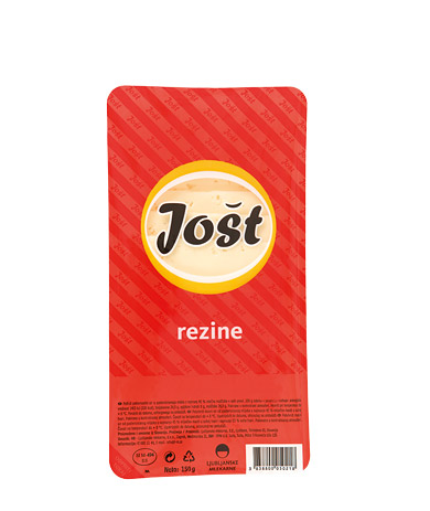 Jošt semi-hard full fat cheese in slices