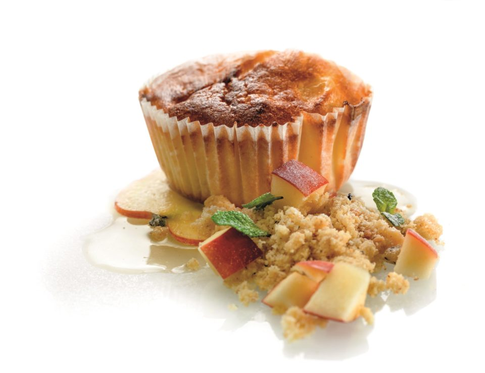 Muffins with apple and cottage cheese