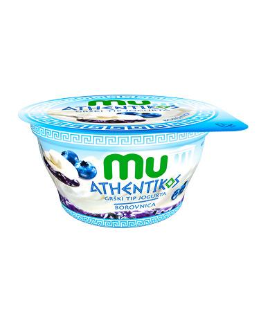 Mu Athentikos jogurt; borovnica