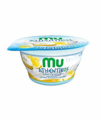 Mu Athentikos jogurt; limona; ingver