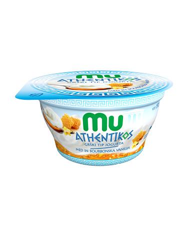 Mu Athentikos jogurt; med, vanilija