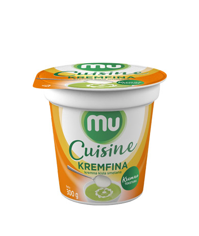 Mu Cuisine Kremfina; creamy sour cream