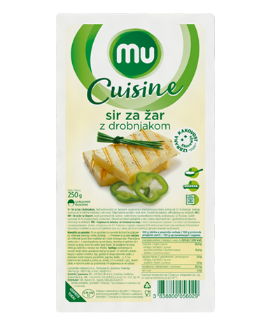 Mu Cuisine cheese for grill with added chives