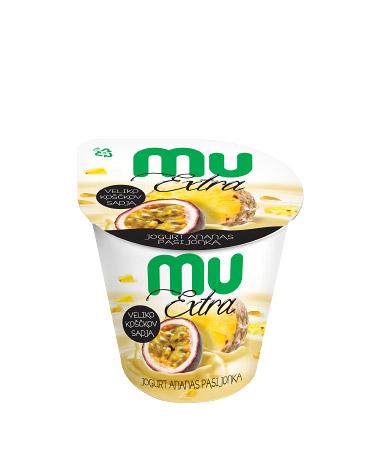 Mu Extra jogurt; ananas, pasijonka