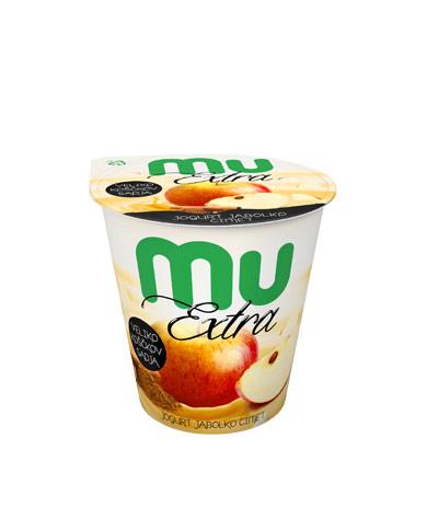 Mu Extra jogurt; jabolko, cimet