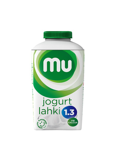 Mu natural drinking yoghurt with 1,3 % milk fat; TT