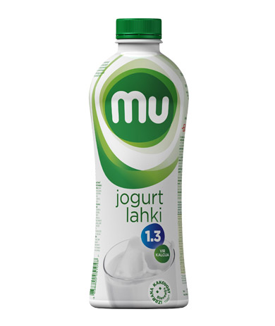 Mu natural drinking yoghurt with 1,3 % milk fat; plastic bottle
