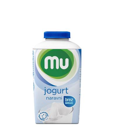 Mu naravni tekoči jogurt z 1,6 % m. m., brez laktoze; TT