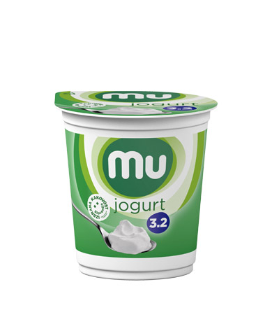 Mu natural yoghurt with 3,2 % milk fat