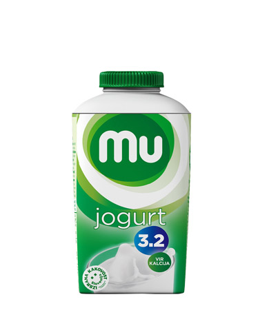 Mu natural drinking yoghurt with 3,2 % milk fat; TT