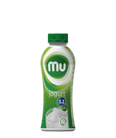Mu natural drinking yoghurt with 3,2 % milk fat; plastic bottle