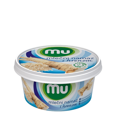 Mu milk spread with horseradish
