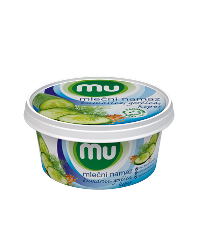 Mu milk spread with cucumbers, mustard, dill
