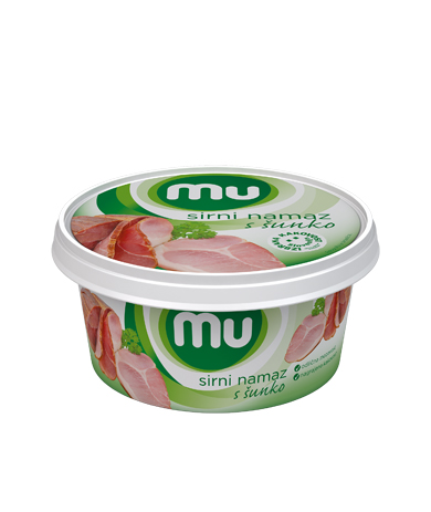 Mu cheese spread with ham