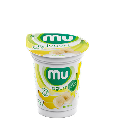 Mu fruit yoghurt banana
