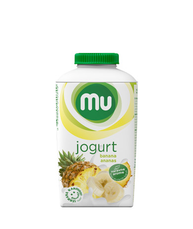 Mu fruit yoghurt banana, pineapple; TT