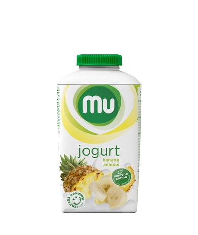 MU tekoči sadni jogurt banana, ananas; TT