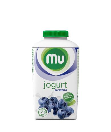 MU tekoči sadni jogurt borovnica; TT