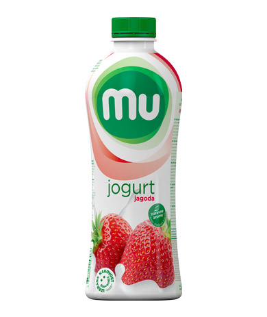 Mu fruit yoghurt strawberry; plastic bottle