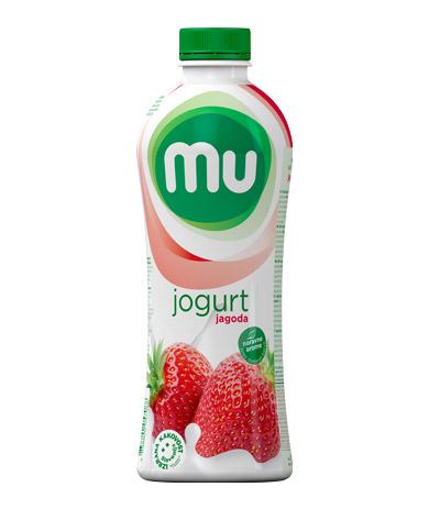 MU tekoči sadni jogurt jagoda; plastenka