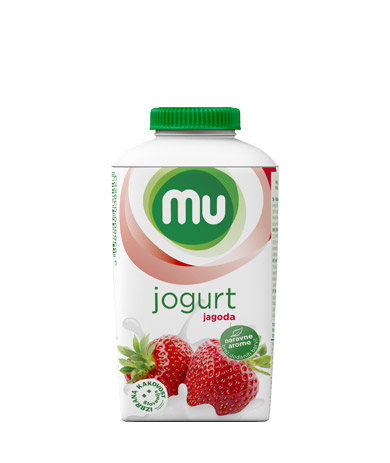 MU tekoči sadni jogurt jagoda; TT