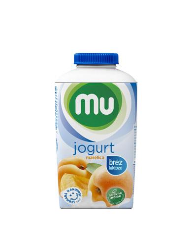 MU tekoči sadni jogurt marelica, brez laktoze; TT