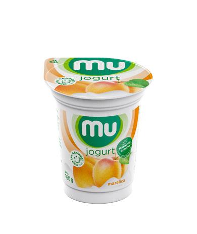 Mu fruit yoghurt apricot