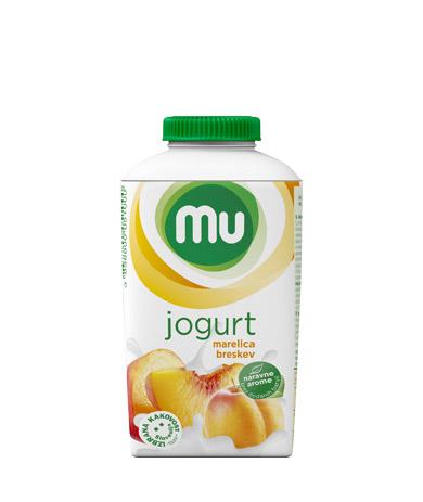 MU tekoči sadni jogurt marelica, breskev; TT