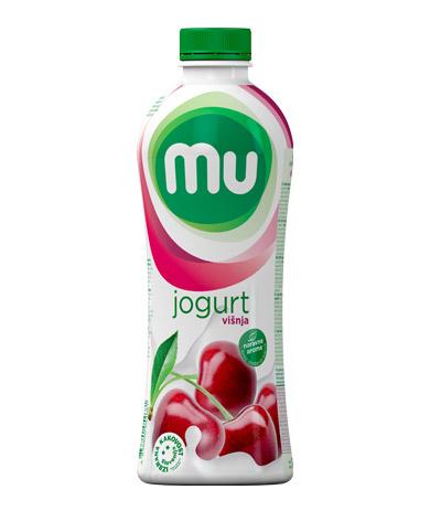 MU tekoči sadni jogurt višnja; plastenka