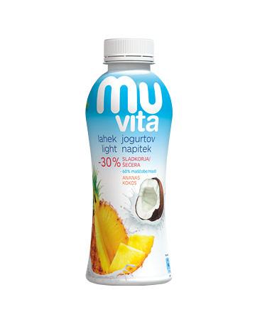 MU Vita jogurtov napitek ananas, kokos