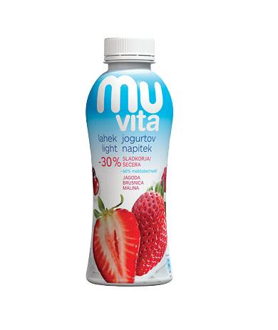 MU Vita jogurtov napitek jagoda, brusnica, malina