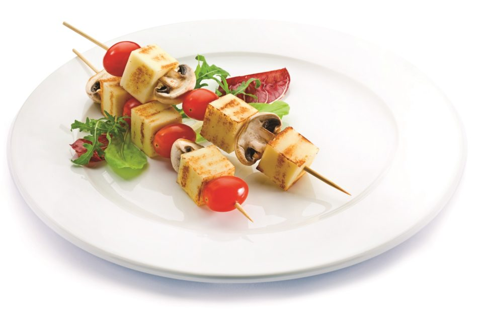 Cheese for grill skewers
