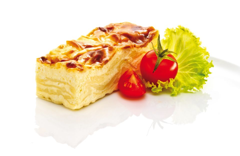 "Salty cottage cheese ""gibanica"" cake"