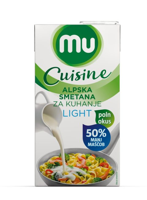 MU Cuisine Alpska smetana za kuhanje, lahka -50 % maščobe