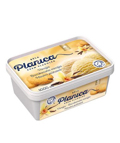 Planica Bela: vanilja, bourbonska vanilja, masleni piškotek